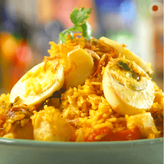Brown Rice Egg Biryani Recipe